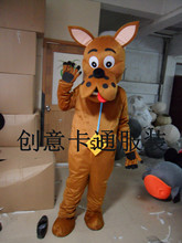Dog Mascot Costume Clothing Cosplay Costumes Adult Size Cartoon Dress Halloween Fancy Apparel