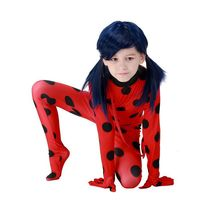 Richu Halloween Lady Bug Costumes For Girls Miraculos Pring Autumn Children Clothes Set Lady Bag Costumes