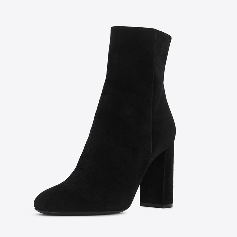 Cuir Chaussures Martin Cheville 2018 Épais 1 Femme a0121 Chaussons Bottes En Haut Vintage Daim Tl Talon Moto Hiver 66xgqwCfP