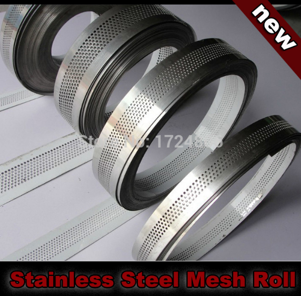 70mm-Width Stainless Steel Mesh Roll/ Stainless Channel Letter Coil/ LED Channel letter Making Material 100ms/roll stainless steel material aaron wire bar effective coating width 200mm scraping ink bar