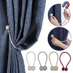 New Pearl Ball Shape Curtain Magnetic Buckle Curtain Tie Backs Buckle Holder Clips Accessory Curtain Tieback
