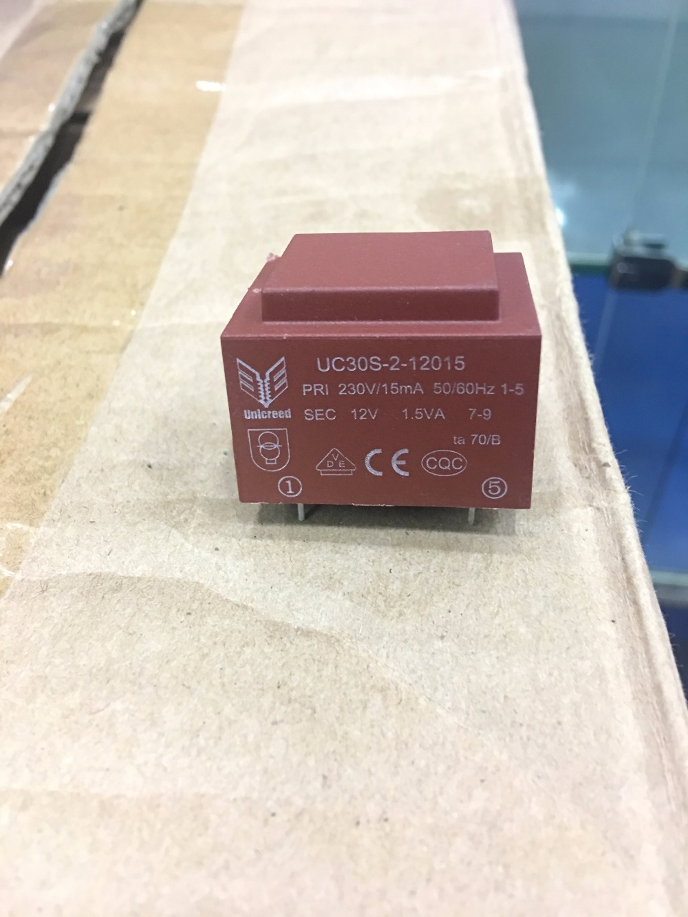 5 pcs novo e original uc30s 2 12015 latas seladas 1 5va transformador 230 v para