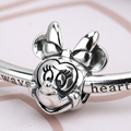 925 Sterling Silver Jewelry Fit Bracelets Minnie Charm Bijoux Female For Women Lovers Gift Cute Style Decorations Beads