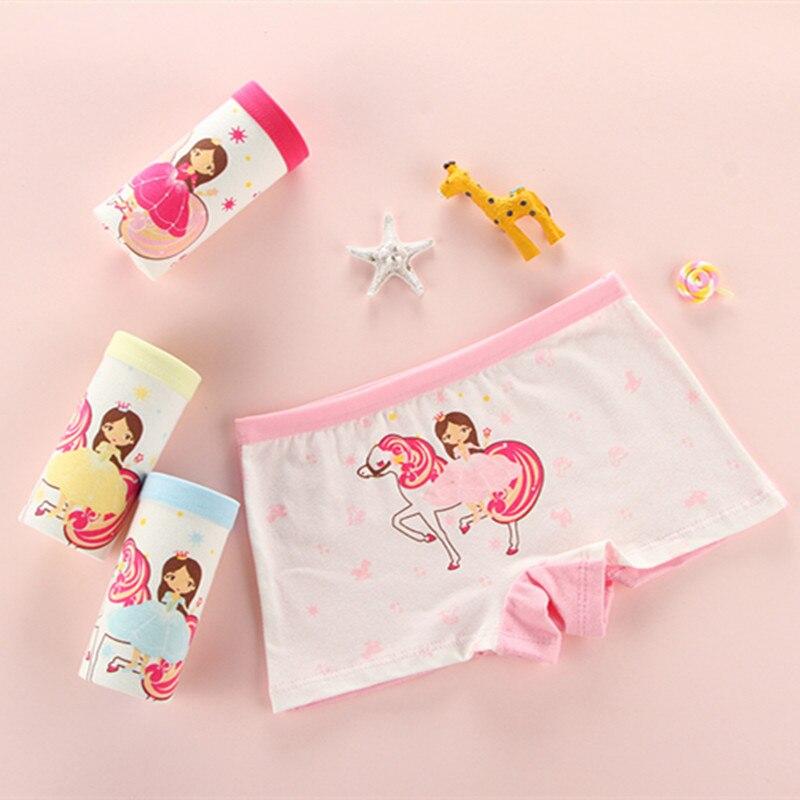 4pcs/lot Baby Kids Panties Cotton 2018 New Fashion Cartoon printed  girls Briefs Boxer Underwear Training pants 1