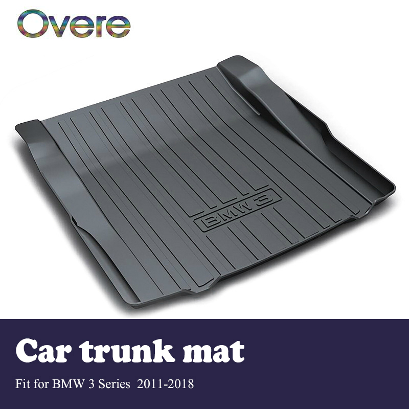 Overe 1Set Car Cargo rear trunk mat For BMW 3 Series F30 F31 F34 2011-2018 Boot Liner Anti Slip and Waterproof Mat accessories цена