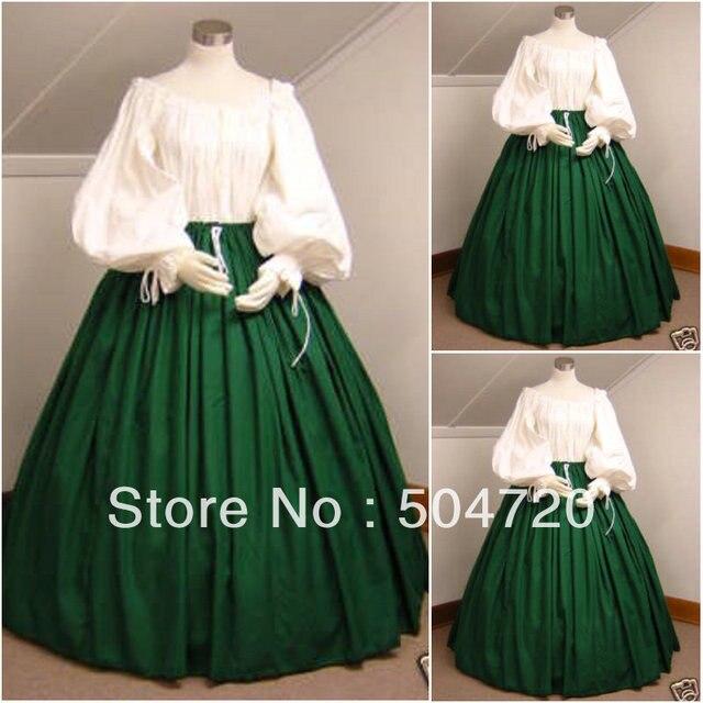 1800S Civil War Southern Belle Ball Gown Dress/Victorian Lolita ...