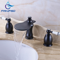 Good Quality Best Price Oil Rubbed Bronze Deck Mounted Waterfall Spout Basin Faucet