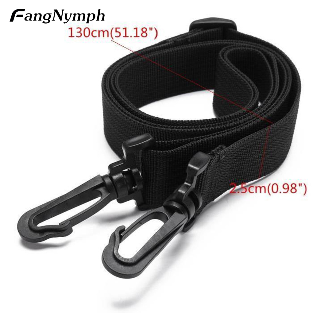 FangNymph Travel Bags Strap Crossbody Bag Accessory Belt Backpack Black Canvas Belt