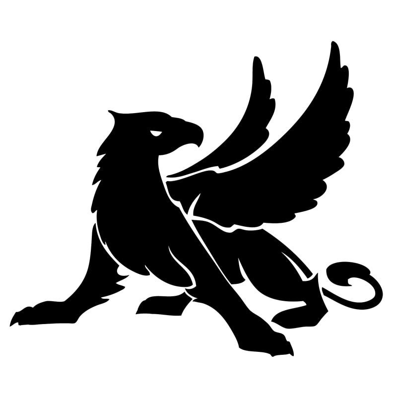 14.3 cm   12.1 cm De Tatouage Mythe Mythique Gryphon Gryph Mode Autocollant  De Voiture Noir Argent S3-5246 accc50cebfb