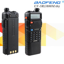 1pcs BAOFENG UV-5R 136-174/400-520 Mhz Dual Band com 3800 MAh li-ion bateria Baofeng uv5r(China)