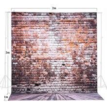 2*3 m/6.6 * 9.8ft grande photographie toile de fond brique motif de plancher en bois pour enfants adulte Photo vidéo Studio