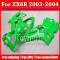 High quality motorcycle body work for 2003 2004 Ninja 636 Kawasaki ZX6R  03 04  ABS fairing kit with 7 gifts WD33
