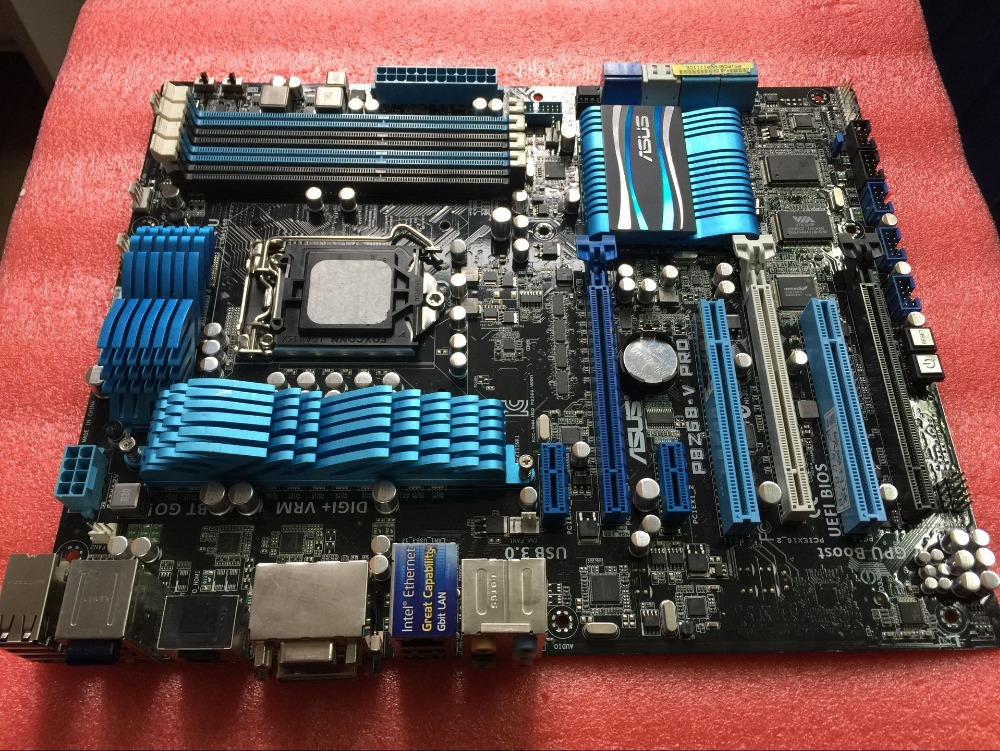 Free shipping original motherboard for ASUS P8Z68-V PRO DDR3 LGA 1155 I3 I5 I7 32NM 32GB USB2.0 USB3.0 Z68 Desktop motherborad все цены