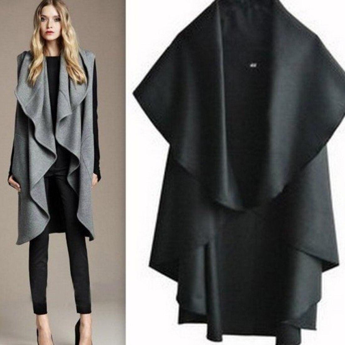 2017 Spring Trendy Coat Cardigan Lapel Irregular Casual Trench font b Jacket b font Solid Outwear