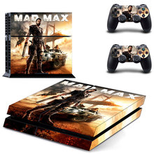 Mad Max Design PS4 Skin Decal Sticker For PlayStation4 Console and 2 controller skins