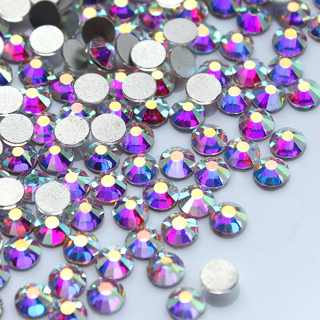 Offer value spree, 14400 pcs / packs, crystal AB Non hot fix rhinestones, nail art rhinestone