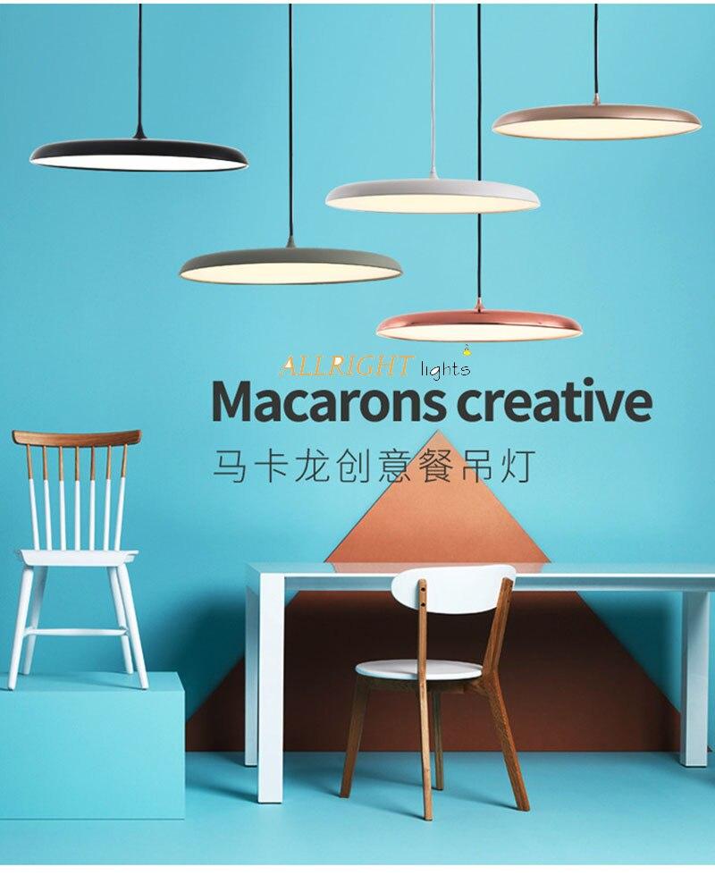 Chanderlier moderna LED de metal único preto/branco/chanpagne DIA45CM cor branca/cor branca morna para sala de jantar coffee shop