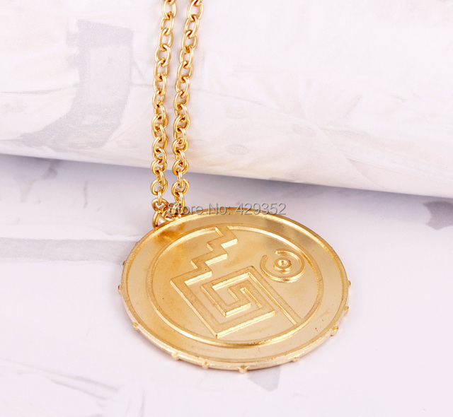 20pcs/lot Pirates of The Caribbean Aztec Gold/Antique Bronze Skull Pendant Necklace Exaggerated Jewelry Men Vintage Necklace