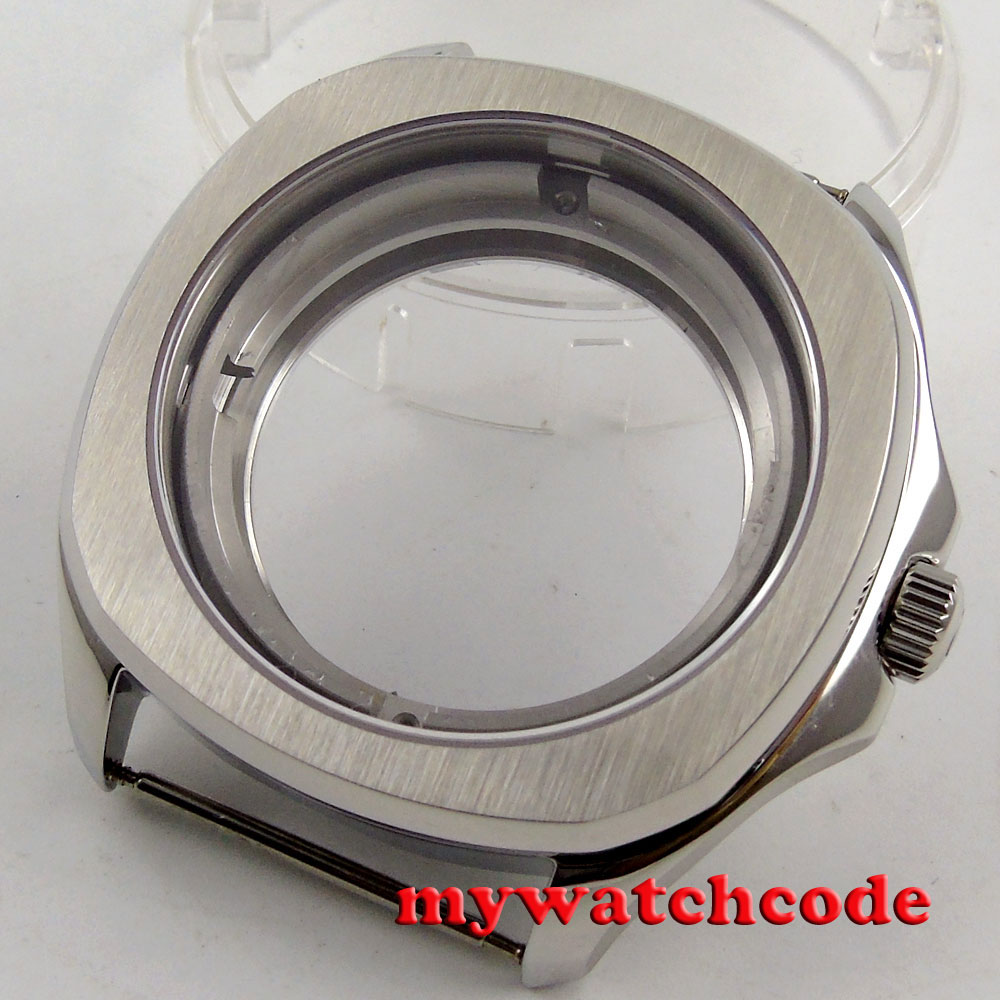 40mm Parnis Stainless Steel Sapphire Crystal Case Fit 2824 2836 Movement C129