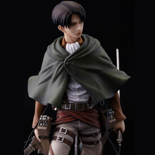 Attack On Titan Levi Ackerman PVC Action Figure Toy Doll 20cm