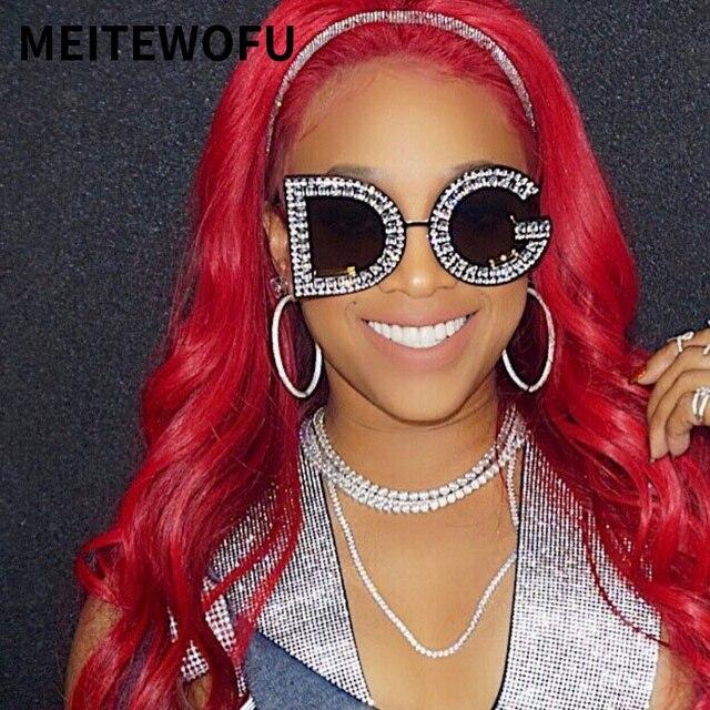 MEITEWOFU marca gafas de sol polarizadas para las mujeres de plástico gafas de sol de moda de los hombres plaza de conducción gafas de sol
