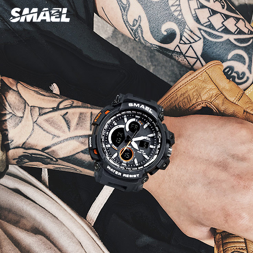 SMAEL Brand Digital Sport Watches Man Chronograph Wristwatches Mens Military 50M Waterproof Relogios Masculino Dropshipping 1708 smael 1708b