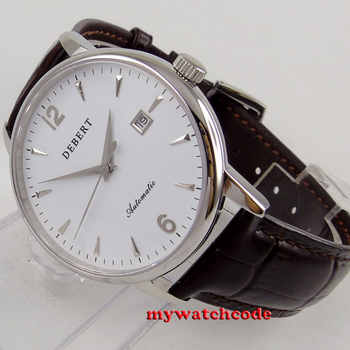 polished 41mm Debert white dial sapphire glass miyota 8215 automatic men watch - DISCOUNT ITEM  25 OFF Watches