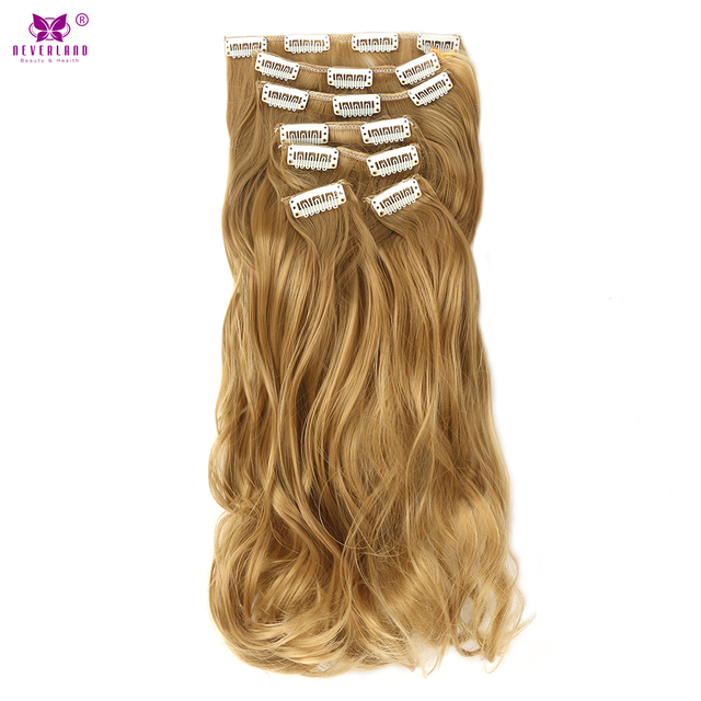 Aimei Wavy Hair 22 7pcsset Synthetic Clip In Hair Extensions Full