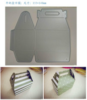 นมกล่องS Crapbook DIYอัลบั้มรูปบัตรกระดาษผลิตบัตรโลหะตายตัดลายฉลุตกแต่งตายตัดแม่แบบB201