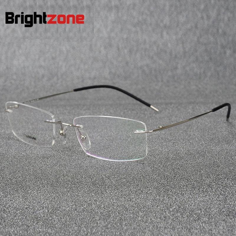Apparel Accessories Sporting Brightzone Light-weight Rimless Titanium Eyeglasses Frame Flexible Titanium Alloy Slim Temple Legs Rx Optical Glasses Spectacles Regular Tea Drinking Improves Your Health Men's Glasses