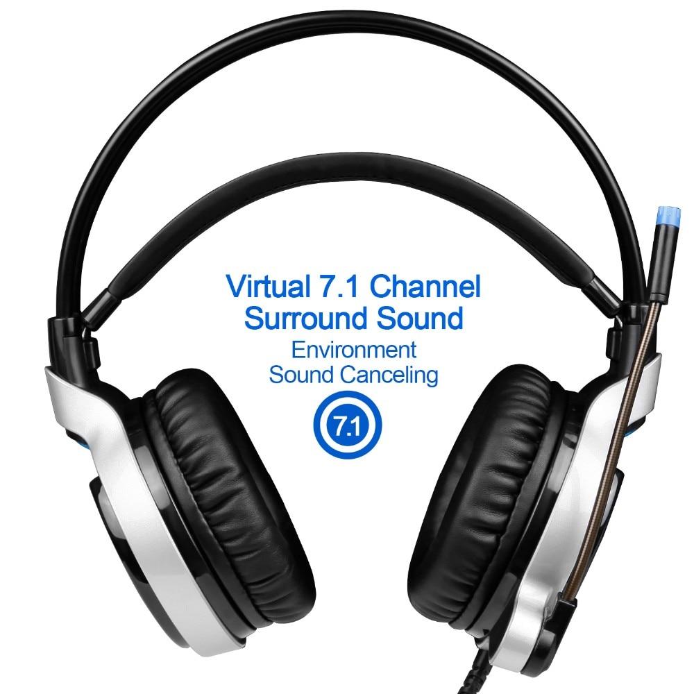 Sades R8 Gaming Headset headband USB 7.1 Surround Sound vezetékes - Hordozható audió és videó - Fénykép 4