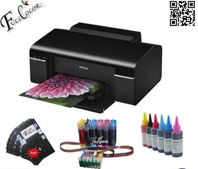 A4 Фото/DVD/ID/ПВХ Карты Принтера T50 Печатная Машина (включая принтер + СНПЧ + Чернила)