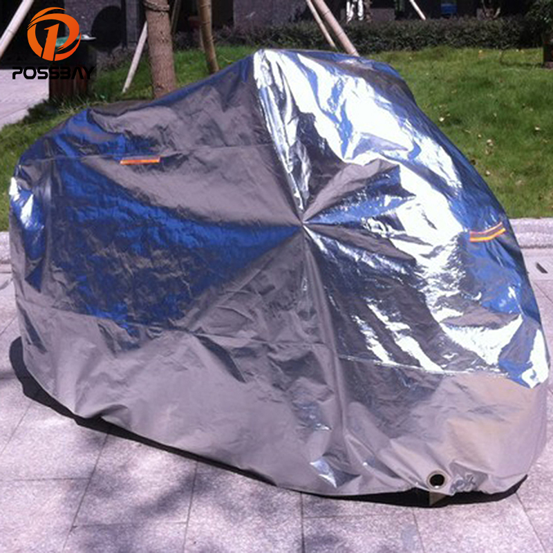 POSSBAY M L XL 2XL 3XL 4XL Motorcycle Covers Waterproof Outdoor UV Rain Protector Covering Scooter