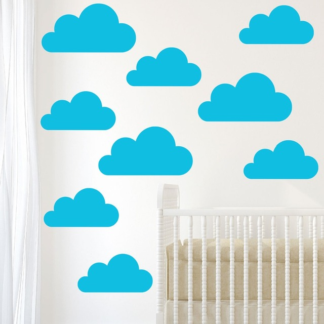 Grandes nuvens 9 conjunto home decor etiqueta crianas nursery grandes nuvens 9 conjunto home decor etiqueta crianas nursery quarto decal adesivo vinil removvel art adesivos ccuart Images