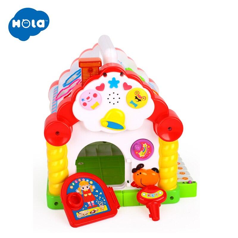 HOLA 739 jouets musicaux multifonctionnels bébé amusement maison Musical électronique blocs géométriques tri apprentissage jouets éducatifs cadeaux - 3