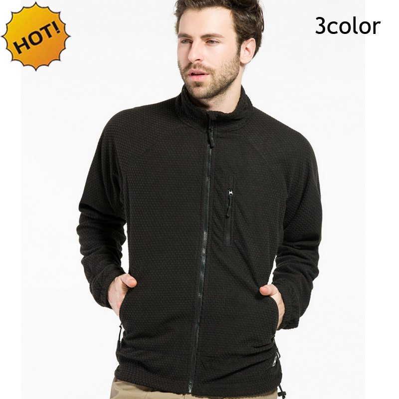 NEW 2016 Spring Autumn Casual Polar Fleece Stretch Solid Winproof Tactical Grid Military Combat Cardigan Men