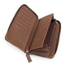 Men Wallets Genuine Leather  Vintage Fashion Brand Designer Card holders Money Stardard Wallet Man