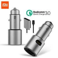 Original Xiaomi Quick Charge 3.0 Car Charger Extended Accessory USB A USB C 2 Port Output for iPhone 8 x Samsung Android phone|Electric Toothbrushes|   -