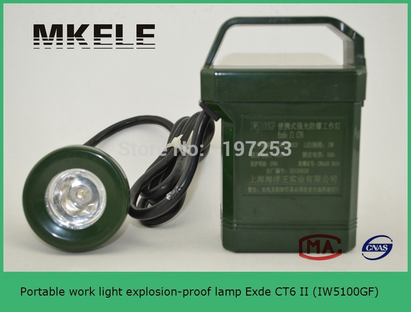 IW5100GF Portable work light explosion-proof lamp Exde CT6 II ,search light prices,led search light mi b2y iw