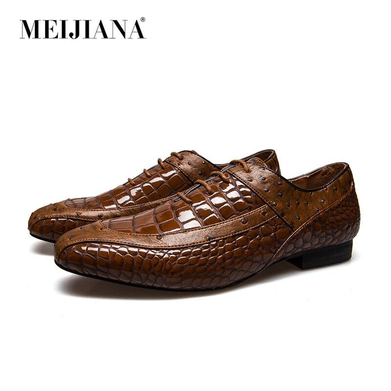 Brun Mode Chaussures Pour Hommes En Cuir Officielle À Puce, Taille 6, 7, 8, 9, 10, 11 - Brun, Taille: 44