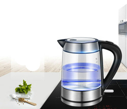Electric kettle The glass electric is used to boil water and the automatically cuts off stainless steel
