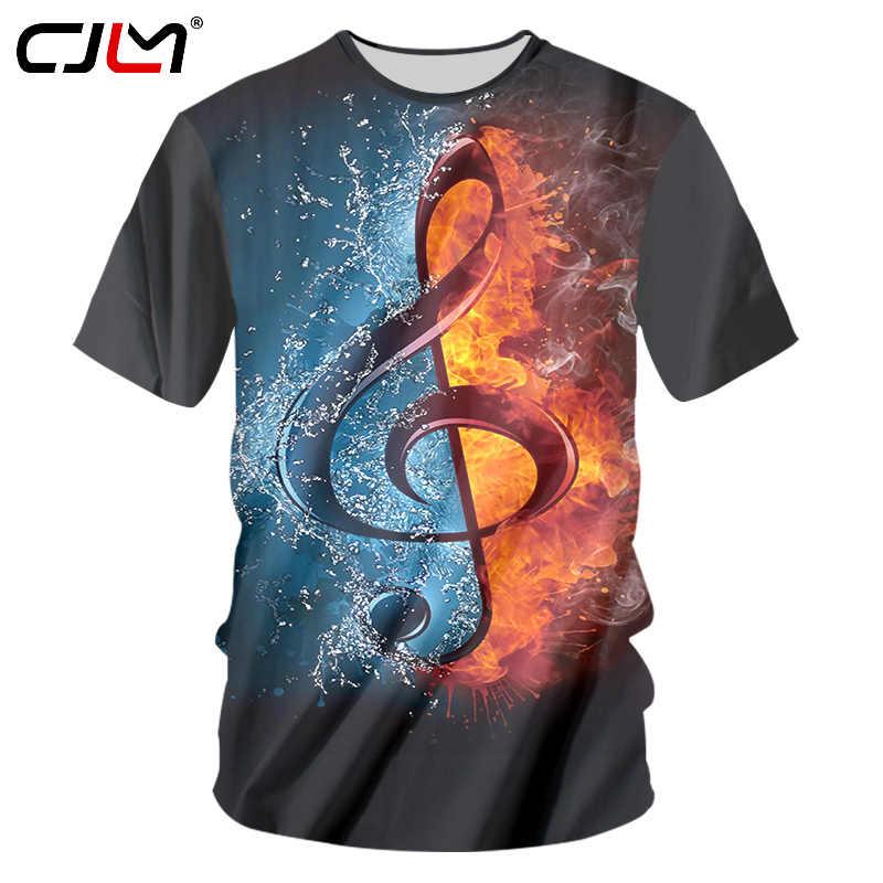 CJLM модные футболки в рок-стиле, мужские крутые футболки с принтом диско-музыки и гитары, 3D футболки, нейтральные повседневные футболки с коротким рукавом для фитнеса