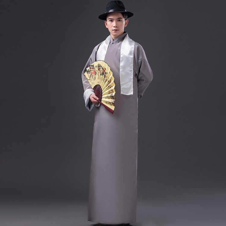 Китайский традиционный костюм для мужчин длинный халат мужской древний Тан одежда длинное платье ханфу костюм для сцены Косплей 89