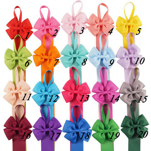 Image 3 - Plain Grossgrain Ribbon Bow Holder To Hold Hair Bows Hair Clips Hairgrips Hairpins Hair Accessories 20 Pieces/lot 20 Color