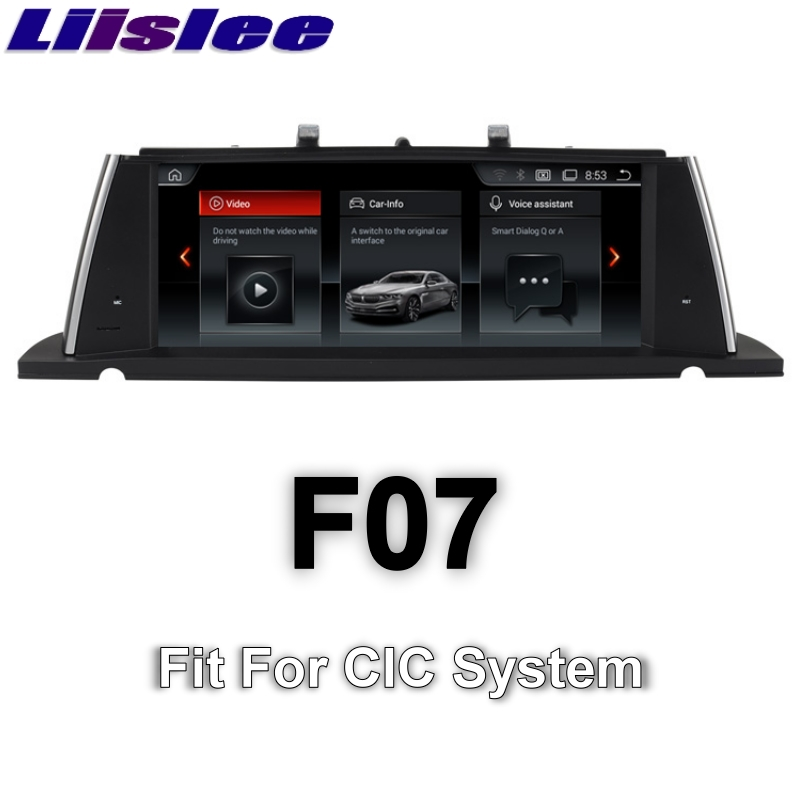 цена на For BMW 5 Series F07 GT 2010~2012 LiisLee Car Multimedia GPS Audio Hi-Fi Radio Stereo Original Style For CIC Navigation NAVI