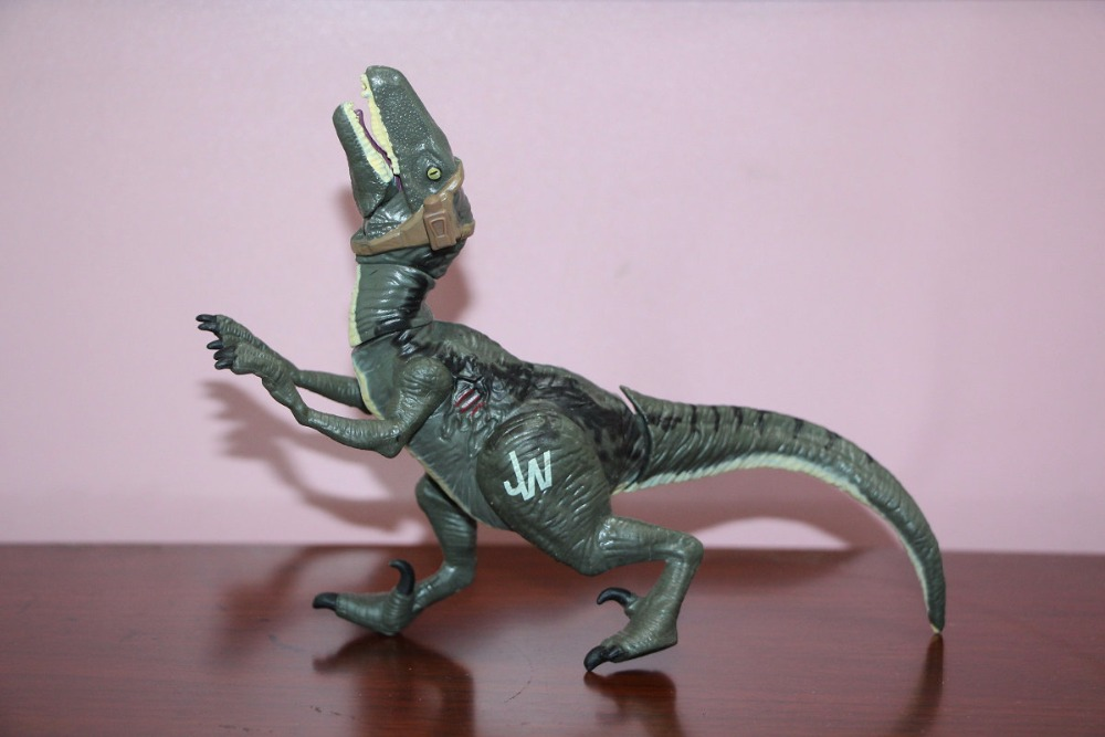 Jurassic World Bashers & Biters Velociraptor Blue  Loose figure Kids Toys