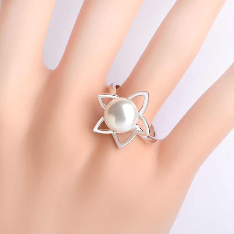Dazz מתוק סגנון כוכב צורת D ווי Drop עגיל טבעת נחושת תכשיטי פנינים מדומה סטי נשים מסיבת חתונת קישוטי מתנה