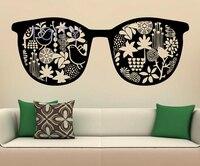Sunglasses Wall VInyl Sticker Glasses Shop Fashion Style Decal Home Interior Decor Mural Housewares H50cm x W130cm/19.6 x 51.5