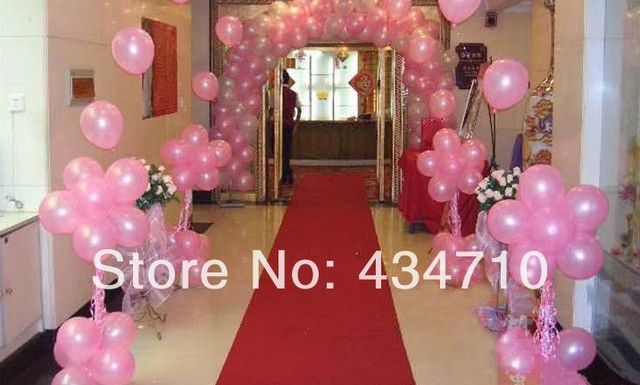 whole sale 200pcs lot pink purple white balloon latex wedding decoration balloon for party