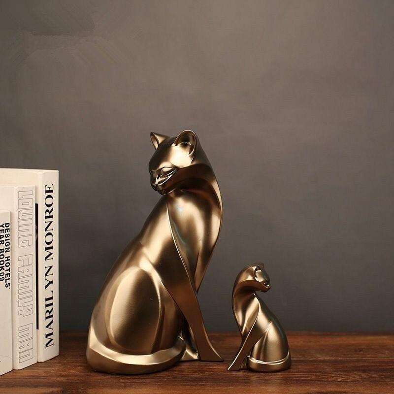 MRZOOT Ретро крыльцо ТВ кабинета творческий Золотой животного Кот Nordic предметы домашнего обихода декоративные украшения ремесла аксессуары